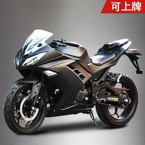 小忍者<span class=H>摩托</span><span class=H>车</span>跑<span class=H>车</span>250cc350cc双缸水冷重型发动机可上牌地平线跑<span class=H>车</span>