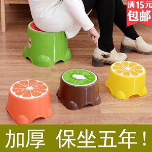 塑胶加厚型餐厅塑料四方儿童小号矮凳卫生间学生凳子餐椅便携式