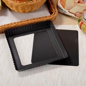 风和日丽烘焙模具 不沾活底长方形 正方形活底菊花派盘 披萨<span class=H>烤盘</span>