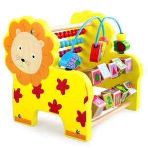 动物大号木制质计算术架<span class=H>绕珠</span>学习婴幼儿童1-3周岁早教益智力玩具