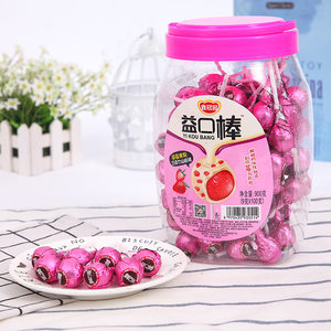 鑫冠园草莓<span class=H>巧克力</span>棒棒糖夹心山楂桶装儿童节零食休闲创意糖果食玩