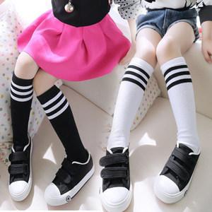 儿童中筒袜薄款女童长筒袜棉质小童中童<span class=H>高筒袜</span>子春夏季学生4460