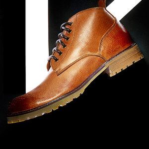 真皮英伦马丁靴男士短靴复古工装靴青年休闲潮<span class=H>男鞋</span>子牛皮短筒<span class=H>靴子</span>