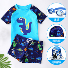 Children's swimming suit for boys, middle and old children's separated swimming suit, baby's sunscreen swimming trunks, swimming equipment