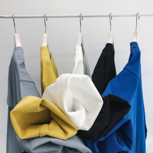 春装基础款纯色打底长袖<span class=H>T恤</span>男士韩版糖果色百搭圆领打底衫长袖tee