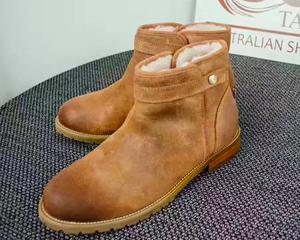 澳洲直邮 <span class=H>TASMAN</span> 男士羊皮羊毛一体靴 低帮李建款 包邮