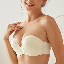 Bras without shoulder straps gather together, slip-proof upper support, underwear without steel ring, bride's invisible chest sticker for bride's wedding dress