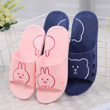 Four Seasons Lovers Lovely Cartoon Shower Slippers Thick-soled Men and Women Indoor Slip-proof Home Bathroom Home Support Shoes