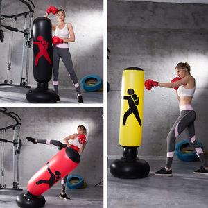 儿童充气立式拳击柱成人不倒翁充气沙袋玩具健身跆拳道训练器材