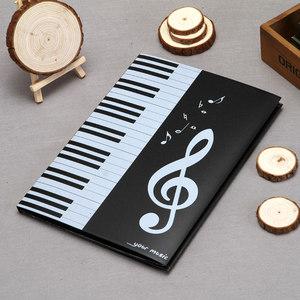 乐谱夹A4可修改 6页三折叠曲谱钢琴谱<span class=H>文件夹</span>册乐团演奏专用不反光