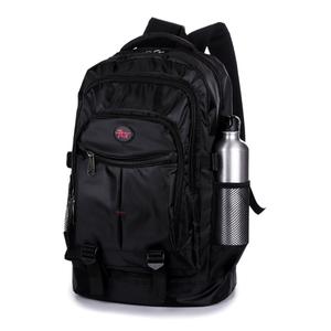 新款男士<span class=H>双肩包</span>男女韩版潮高中学生书包休闲电脑包登山旅行包黑色