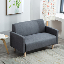 Simple Nordic Mini double two person two or three person cloth art sofa single apartment rental shop Bedroom Sofa Chair