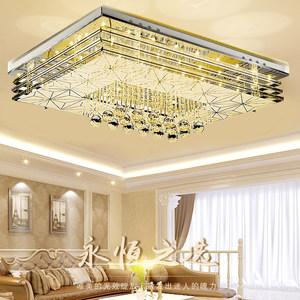 LED客厅灯 吸顶灯长方形<span class=H>水晶灯</span>饰大厅灯具家用卧室灯大气现代简约