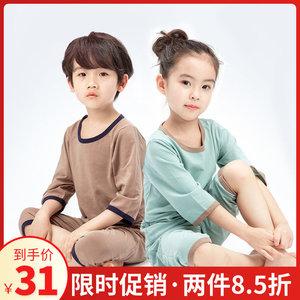 儿童家居服套装夏男女童空调服中大童