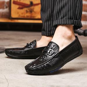 夏季<span class=H>豆豆鞋</span>男潮流真皮休闲鞋韩版软面皮软底<span class=H>男鞋</span>一脚蹬懒人潮<span class=H>鞋子</span>