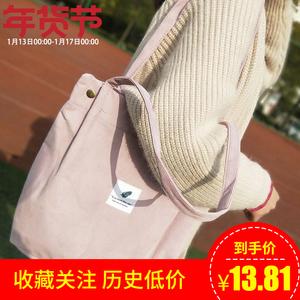 2018新款<span class=H>包包</span>女女士韩版学生帆布包复古大容量文艺百搭单肩包ins