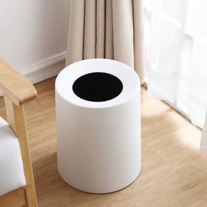 家用简约北欧卫生间办公室圆形无盖塑料厨房垃圾桶 客厅收纳纸篓