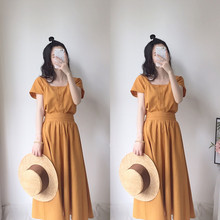 Late Wind Suit Female Summer Suit 2019 New Kind of Small and Fresh Suit Skirt Temperament Goddess Net Red Two-piece Suit Long Skirt