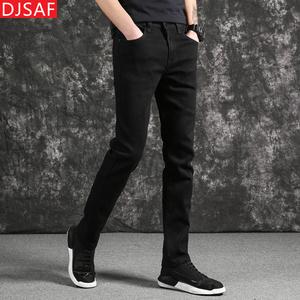 韩版直筒薄款青年男士修身弹力牛仔裤
