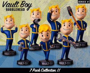 Fallout辐射4VaultBoy正版辐射小子周边<span class=H>手办</span>人偶模型公仔车载摆件