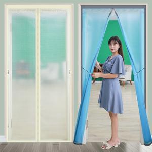 空调挡风帘防冷气透明门帘子隔断帘卧室家用磁吸免打孔遮厨房油烟