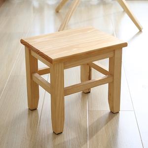 松木凳子实木小凳子小方凳木板凳换鞋凳<span class=H>矮凳</span>家用板凳儿童椅子特价
