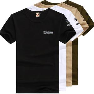 军迷服饰夏季户外迷彩军装男纯棉紧身弹力特种兵短袖体能作训T恤
