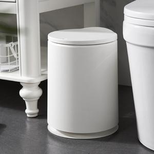 日式按压式<span class=H>垃圾桶</span>客厅厨房卧室家用现代简约圆形带盖<span class=H>垃圾桶</span>纸篓