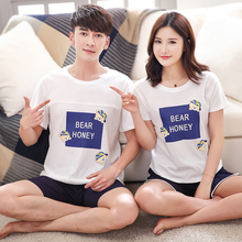 Men's pyjamas home clothes short sleeves summer thin style summer loose cotton can go out large size simple suit leisure