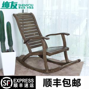 休闲成人<span class=H>摇椅</span>阳台躺椅简约午睡椅实木懒人老人室内摇<span class=H>摇椅</span>逍遥家用
