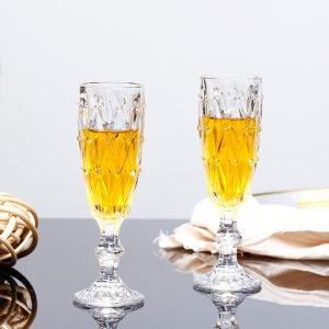 6只装香槟杯鸡尾<span class=H>酒杯</span>创意欧式无铅水晶玻璃家用红酒甜<span class=H>酒杯</span>高脚杯