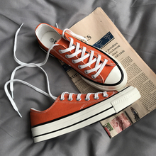 Canvas shoes male and female students Korean version of Harajuku ulzzang wild 1970s Samsung standard couple orange low help board