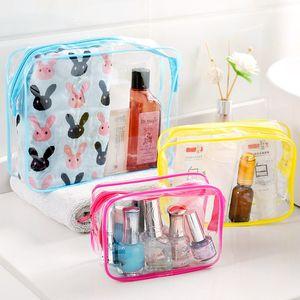 便携式透明防水洗漱包旅行化妆品杂物收纳袋多功能加厚塑料收纳包