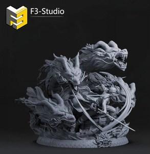 【Time】F3 海贼 GK Zoro 索隆 青龙吟 流水 雕像 手办模玩