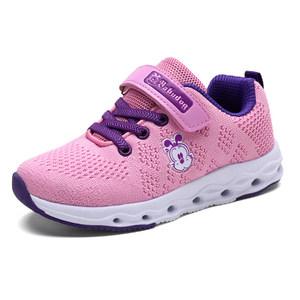 女童鞋子2019新款春夏小女孩休闲鞋网面透气儿童运动鞋轻便巴布软