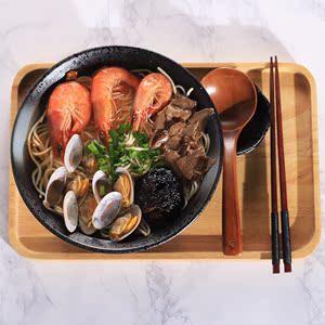 龙喆大号黑釉家用拉面碗陶瓷日式泡面汤碗创意碗餐具套装斗笠碗
