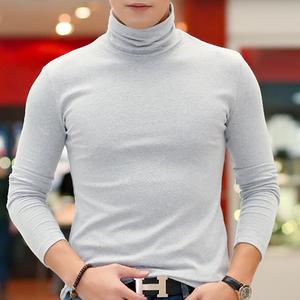 【天天特价】秋冬装高领打底衫男士<span class=H>t恤</span> 修身纯棉加厚长袖内衣服
