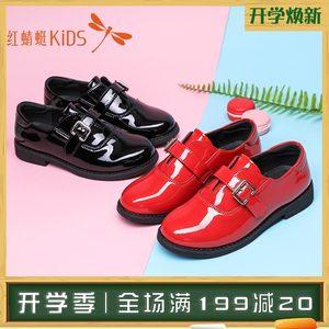 红蜻蜓童鞋女童<span class=H>皮鞋</span>亮皮公主鞋2018秋季新款儿童英伦风学生鞋单鞋