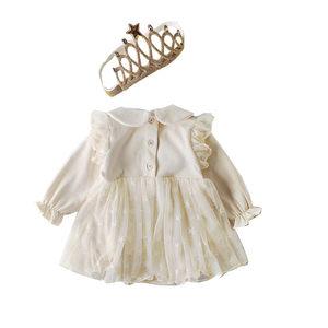 婴儿公主<span class=H>衣服</span>三角连体包屁裙子发带发饰幼女宝宝满月春秋冬装超萌