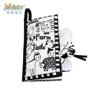 jollybaby黑白视觉刺激<span class=H>布书</span>早教婴儿撕不烂益智玩具6-12个月宝宝