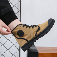New Canvas Shoes, Men's High Uppers, Retro Martin Boots, Tide Shoes, Zhongbang Outdoor Mountaineering Leisure Shoes