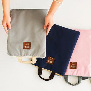 帆布办公文件袋拉链袋A4大容量随身手提资料袋韩国男女学生<span class=H>文件包</span>