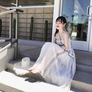 泰国沙滩裙女夏季巴厘岛三亚海边度假<span class=H>长裙</span>超仙性感露肩吊带连衣裙