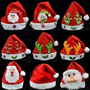 针织小孩子配件圣诞<span class=H>帽子</span>圣诞老人装扮用品秋冬小女孩女士玩具迷你