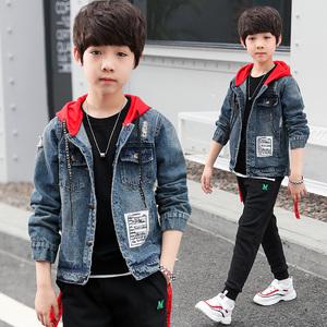 男女童春秋牛仔韩版中大童外套