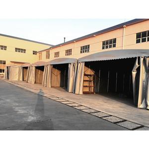 厂家直销推拉活动雨棚移动收缩蓬折叠帐篷户外仓储棚遮阳遮雨棚