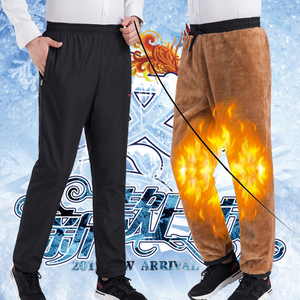 ✅男士休闲高腰加绒<span class=H>棉裤</span>大码爸爸老人保暖裤中老年人冬季加厚外穿