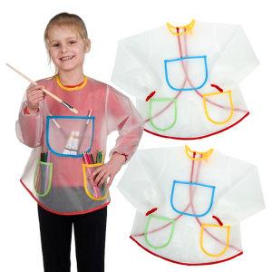 <span class=H>儿童</span>绘画涂鸦防污围裙 幼儿园美术画画衣反穿衣 防水罩衣吃<span class=H>饭衣</span>