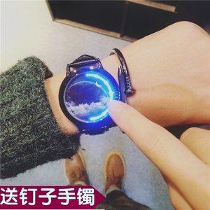 个性<span class=H>手表</span>男潮创意炫酷黑科技概念高科技无指针学生国产腕表机械表