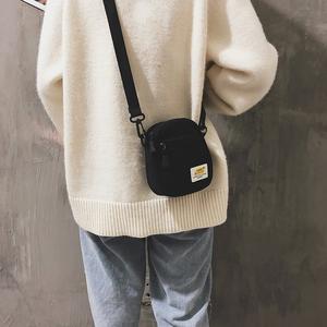 新款2019时尚女式手机包女斜挎迷你百搭小<span class=H>包包</span>零钱包韩版潮包布包